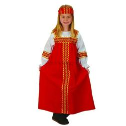 Constructive Playthings Russian Girl Kids Costume - Fits Mos