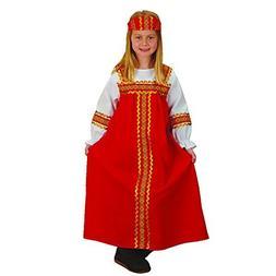 russian girl kids costume fits most children