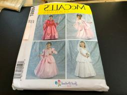 McCalls COSTUME Pattern M6897 Girls Princess~Fairy~Bride Gow