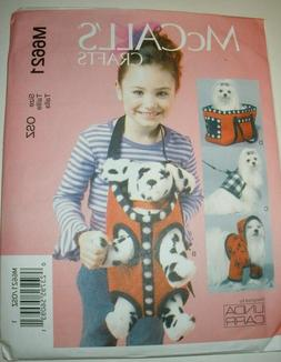 McCALL'S PATTERN 6621 PLUSH CLOTH TOY DOG ACCESSORIES CARRIE