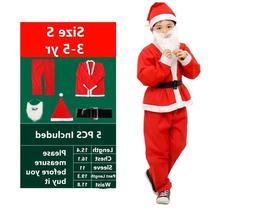 Santa Claus Costume Christmas Suit Kids Boys Men's Cosplay R
