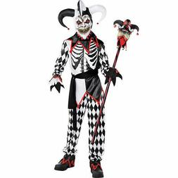 Sinister Jester Quality Scary Clown Boys Child Costume | Ams