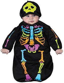 Skele-Baby Skeleton Bunting Costume, 0-9 Months
