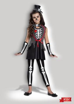 InCharacter Skeleton Cutie Bones Goth Childrens Girls Hallow