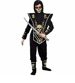 FUN WORLD SKULL NINJA HALLOWEEN COSTUME KIDS Size Large 10-1