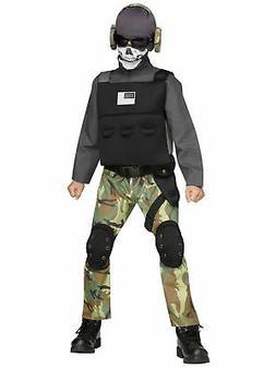 Skull Soldier Costume for Kids