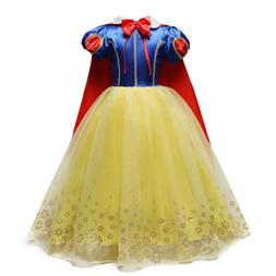 Snow White Costume Princess Dress Kids Girls Halloween Party