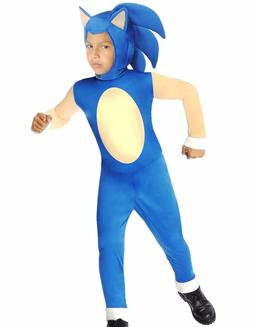 Sonic The Hedgehog Costume Boys Kids Child Deluxe -S 4-6, M
