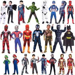 Spiderman Superman Iron Man Cosplay <font><b>Costume</b></fo