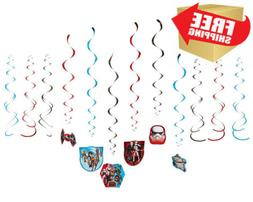 Star Wars Rebels Value Pack Foil Swirl Decorations, Party Fa