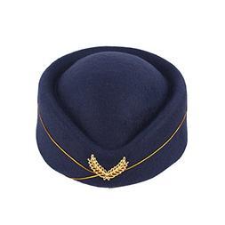 BESTOYARD Stewardess Hat Wool Cap Flight Attendant Hat Stewa