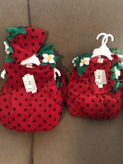 Koala Kids Strawberry Halloween Costume Girls Size 18M Or 12
