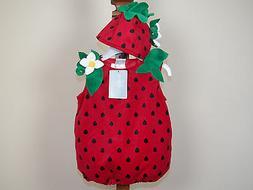 Koala Kids Strawberry Halloween Costume Girls Size 9M 12M Mo