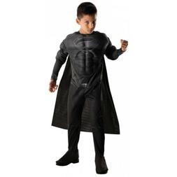 Superman Costume Kids Black Superhero Suit Halloween Fancy D