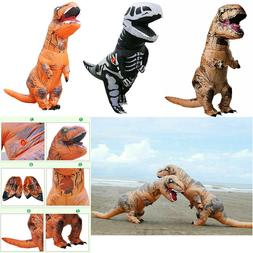 T-REX Dinosaur Inflatable Dino Costume Outfits Suit For Adul