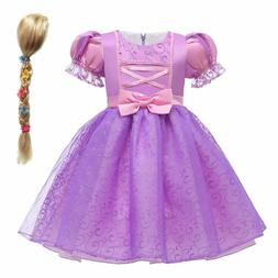 Tangled Rapunzel Dress For Kids Purple Princess Costumes Car