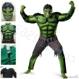 The Avengers Hulk Muscle Mask Costume boys Cosplay kids Carn