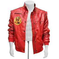 The Karate Kid Johnny Lawrence Cobra Kai Red Leather Jacket