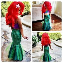 the little princess ariel dress cosplay <font><b>costume</b>