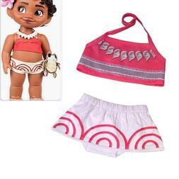 Toddler Baby Girls Children Moana Cosplay Swimwear Suit Biki