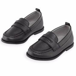 Toddler Boys Black Dress Shoes Size 8 Koala Kids Penny Loafe