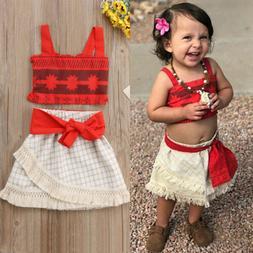 07d0639c795e2 Toddler Girls Kids Baby Moana Costume To...