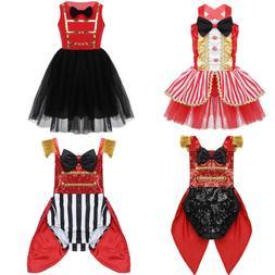 Toddler Kids Baby Girls Circus Ringmaster Costume Halloween
