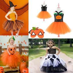 Toddler Kids Baby Girls Halloween Cosplay Tutu Dress Costume