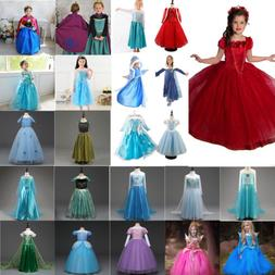 Toddler Kids Girl Frozen Anna Elsa Princess Party Fancy Dres