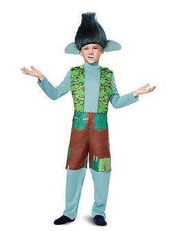 trolls branch deluxe child costume with wig