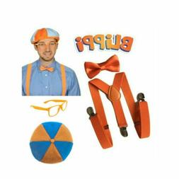 TV Show Blippi <font><b>Kids</b></font> Cosplay Set Tie Bow