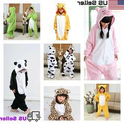 Unisex Pajamas Kids funny Animal Cosplay Sleepwear Costumes