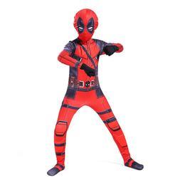 US CA X-Men Deadpool Kids Tight Jumpsuit Halloween Boys Tigh