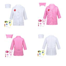US Kids Child Toddler Girls Boys Doctor Nurse Uniform Outfit