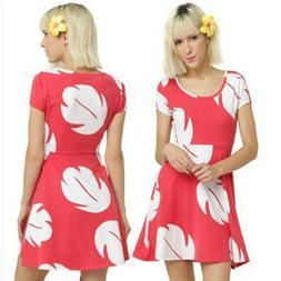 US Lilo & Stitch Cosplay Dress Women Girl Matching Costume H