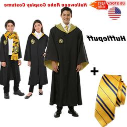 us stock adult kid hufflepuff cloak cape