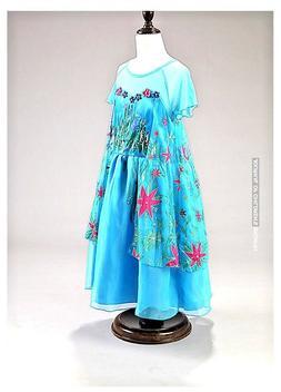 US STOCK Girls Elsa Frozen dress costume Princess Anna party