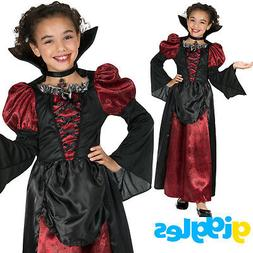 Vampiress Costume Girls New Vampire Childs Halloween Fancy D