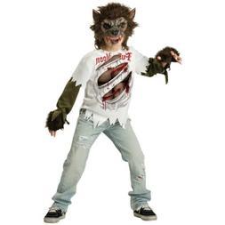 Werewolf Costume Kids Scary Halloween Fancy Dress