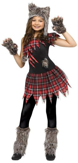 Fun World Wild Wolfie Furry Punk Goth Childrens Kids Hallowe