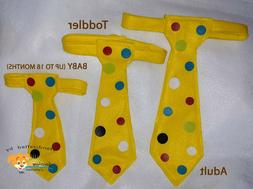 Yellow Polka dots tie Party Costume Accessories theatrical A