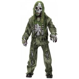 Zombie Skeleton Costume Kids Scary Halloween Fancy Dress