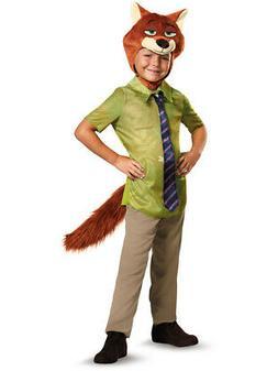 Boys Zootopia Nick Wilde Fox Costume size Small 4-6